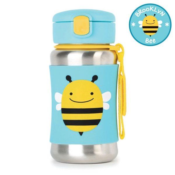 Skip Hop SS Straw Bottle – Bee