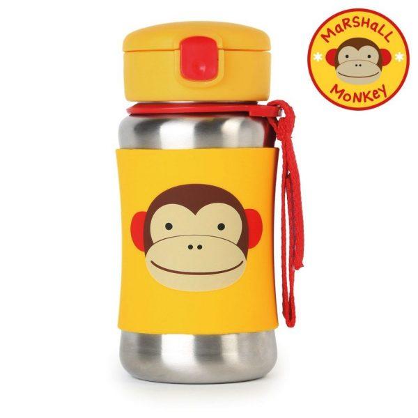 Skip Hop Zoo SS Straw Bottle – Monkey