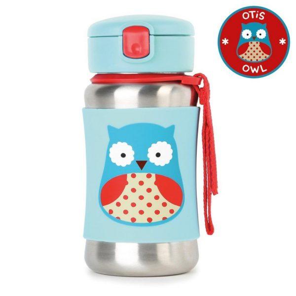 Skip Hop Stainless Straw Bottle Owl